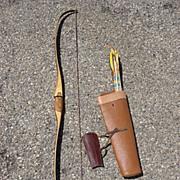 Original Vintage Bear Glass Powered Kodiak Bow and Arrow Bear Archery Company