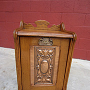 English Antique Coal Box Scuttle Stand English Antiques