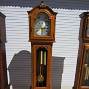 Vintage French Grandfather Clock Vintage Tall Case Clock FREE SHIPPING