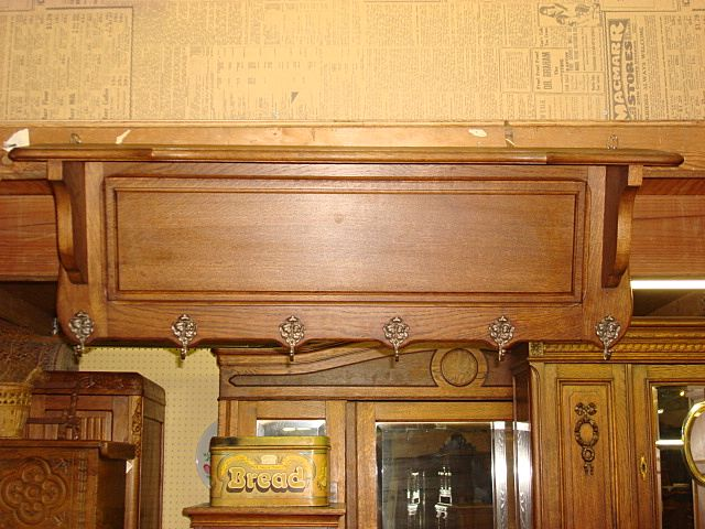 Original French Wall Rack Coat Hanger Hat Rack Wall Shelf