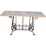 French Antique Console Table French Antique Sofa Table Antique Iron Table Antique Furniture