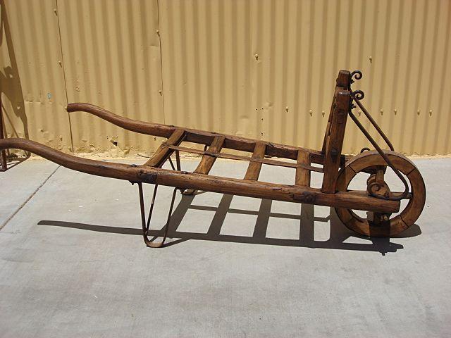 Architectural Antique Garden Cart Wheelbarrow Wagon Wheel Farm Cart Hay Cart