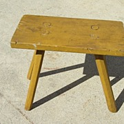 French Antique Milking Stool Antique Bench Primitive Antique Furniture