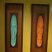 Mid Century Wall Hung Art Dutch Modern Sculptures Vintage Mid-Century Art
