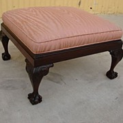 Antique Chippendale Foot Stool Ottoman Antique Furniture