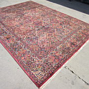 Antique Hand Made Kirman Persian Carpet Oriental Rug Antique Rugs