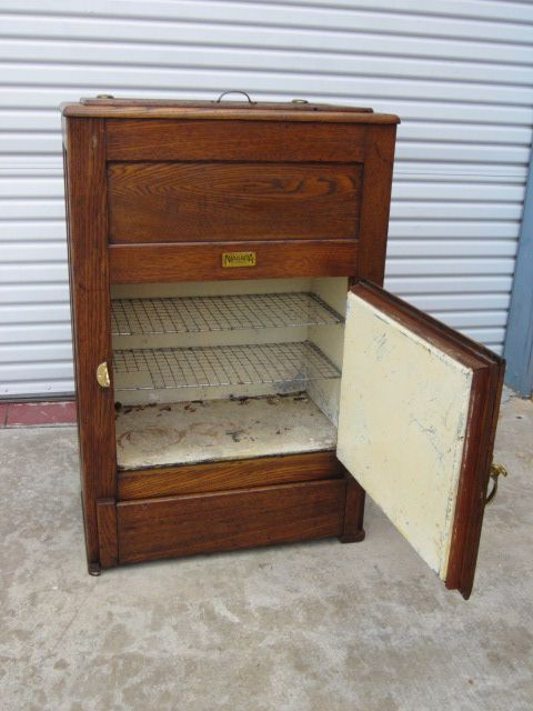 American Antique Ice Box Refrigerator From Rubylane Sold