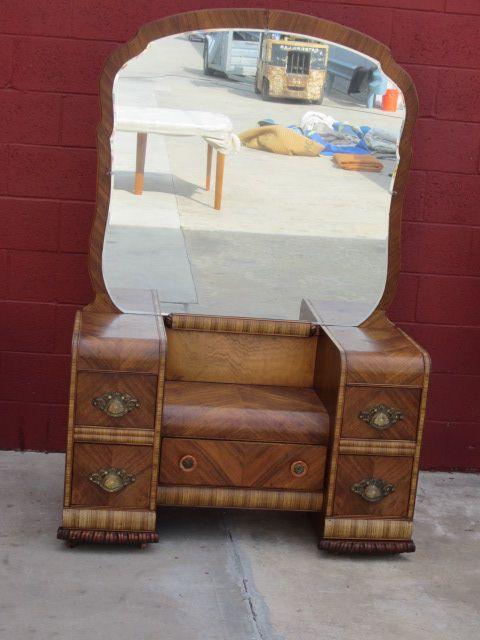 American Vanity Dresser Art Deco Waterfall Bedroom Furniture From