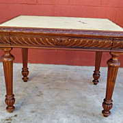 French Antique Table Game Table Desk Antique Furniture