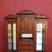 English Antique Display Cabinet China Cabinet Armoire Antique Furniture