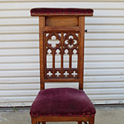 French Antique Prayer Chair Antique Gothic Chair Antique Furniture