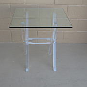 Vintage Post Modern Lucite Table Acrylic Table Furniture