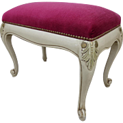 French Antique Vanity Bench Antique Bench Foot Stool  Antique Furniture