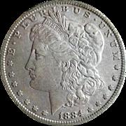 Morgan Silver Dollar 1884 EF