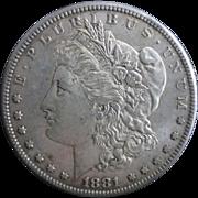 Morgan Silver Dollar 1881 XF