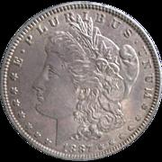 Morgan Silver Dollar 1887 AU