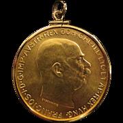 1915 Austria Gold 100 Corona 1oz Solid Gold Coin