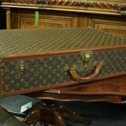 Original Antique Louis Vuitton Suitcase Steamer Trunk Luggage