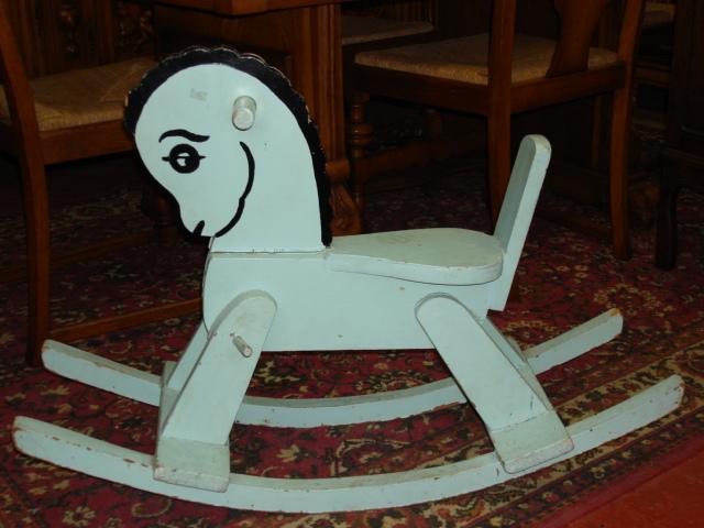 Charming Original English Childs Rocking Horse