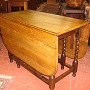 Beautiful English Antique Gate Leg Drop Leaf Table Barley Twist Table Victorian Style Dining .
