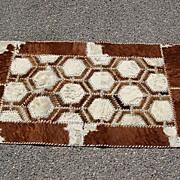 Vintage Cow Hide Tapestry Carpet Rug