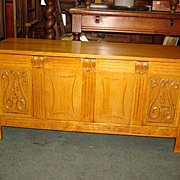 French Antique Hand Carved Chest Trunk