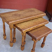 French Antique Nest of Tables 3 Antique Side Tables