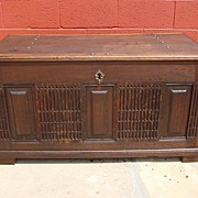 Antique Furniture French Antique Rustic Chest Trunk Antique Blanket Chest Dowry Chest Pirate .