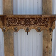 Antique Furniture French Antique Carved Wall Shelf Coat Rack Hat Rack Wall Shelf