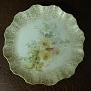 RARE Antique Doulton Burslem Hand Painted Plate, c.1880 - 1890 Date Numbers