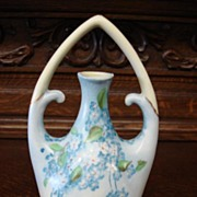 Rare Hand Painted Bud Vase Or Pitcher Royal Crescent China Bavaria Fine Dining Floral