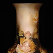 Antique Nippon Vase hand painted