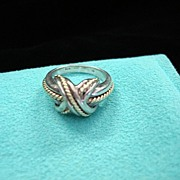 Tiffany & Co. Gold 750 and Sterling Silver 925 Ring