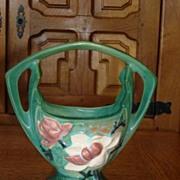 Original Roseville Pottery Vase With Handel 383-7