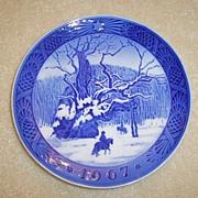 1967 Royal Copenhagen Christmas Plate
