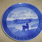 1968 Royal Copenhagen Christmas Plate