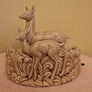TV Lamp - Mother and Fawn