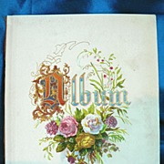 "5 7/8"" x 4 7/8"" Chromolithograph Flower Cover Page from Victorian Album"