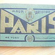 SALE Paris 48 Vues 1920s Vintage Art Deco Style View Book & War Battlefields & Hotel Brochure