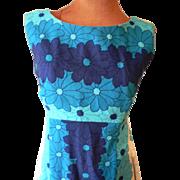 Vintage 1960s Ui Maikai Hawaiian Barkcloth Maxi Dress