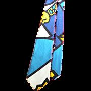 1960's Hawaiian Tiki Man Necktie Made in Hawaii by Kanaka Tie