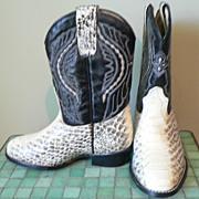 SOLD Vintage Snake Skin Western Kid's Cowboy Boots Caballo Dorado Sz. 8