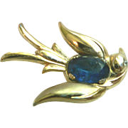 SALE 1940s Vintage Swallow Bird Brooch Pin Coro Pegasus Mark