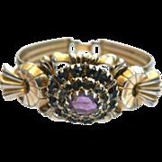 Victorian Gold Fill Amethyst Bracelet Signed P.S. CO