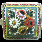 Vintage Italian Micro Mosaic Milliflora Trinket Pill Box