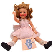 "12"" Ideal Shirley Temple Doll 1958 Original Slip, Name Tag & Hang Tag"