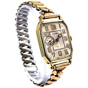 Illinois 15 Jewel Man's Wrist Watch Seconds @ 9 o'clock