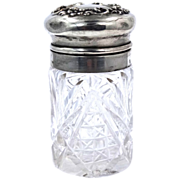 Mauser Manuf. Co. Sterling Lid Crystal Powder Jar Circa 1890's