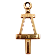 1929 14k Gold A. of Calif Fraternity Key