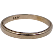 14k Gold Size 5 Vintage Stacking Ring Wedding Band